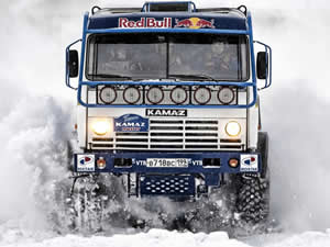Kamaz in the Snow