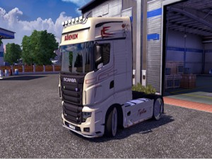 Driving Scania from Bourges to Lemans