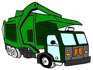 Garbage Trucks Coloring